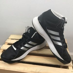 Adidas Cloudfoam Black White high top sneakers